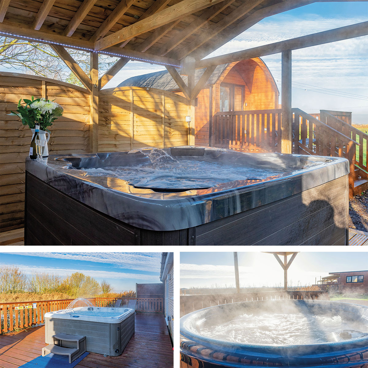 your own hot tub with our luxury lodges